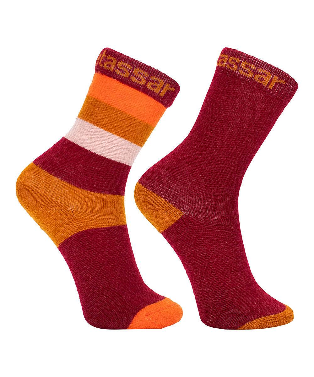 Bilde av Vossatassar Wool Socks 2PK Chili