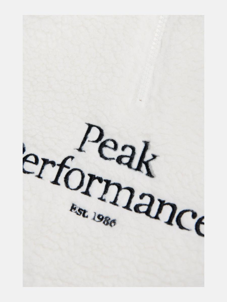 Bilde av Peak Performance Jr Orginal  Pile HZip Hood 099 Offwhite