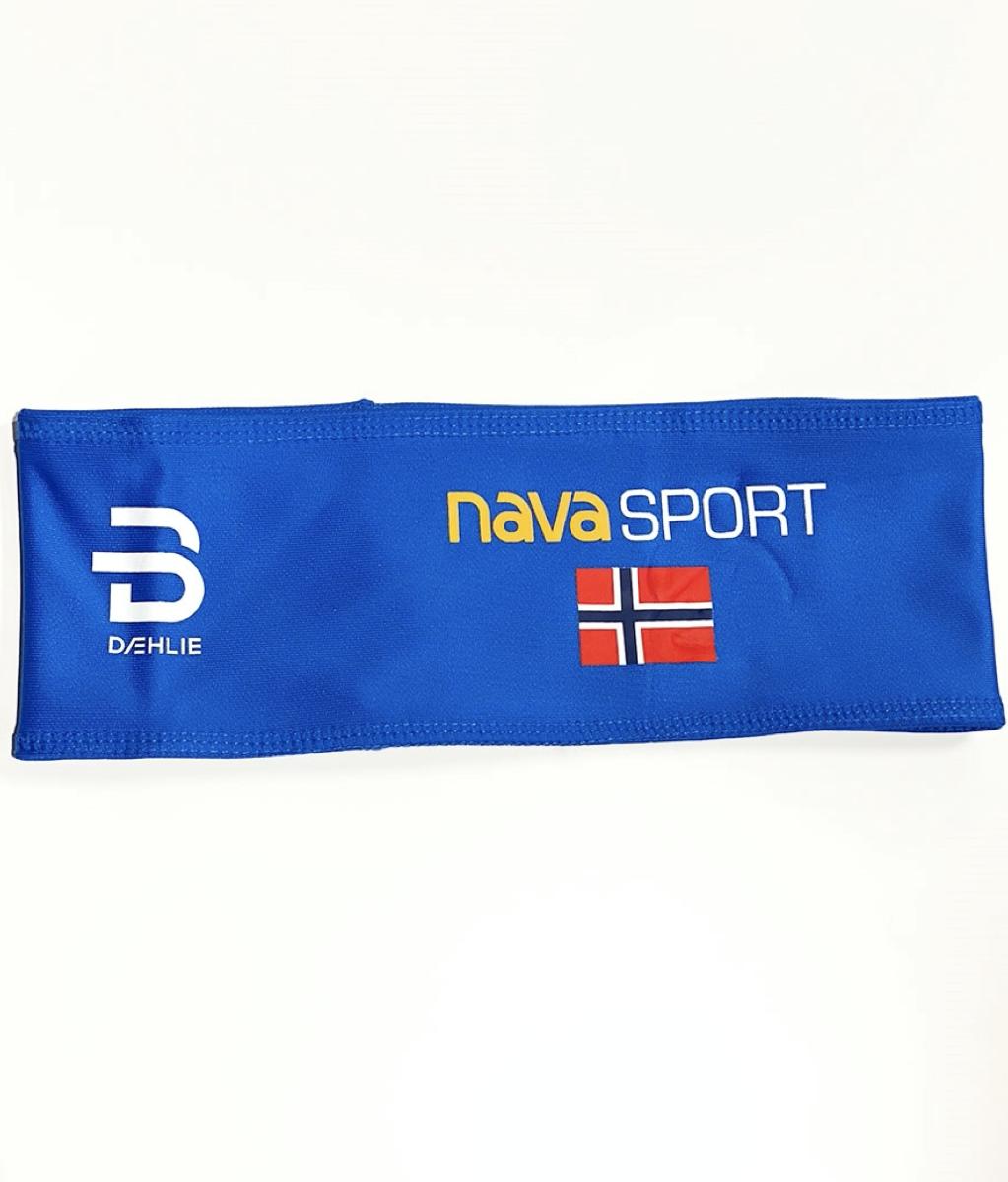 Bilde av Dæhlie Headband polyknit Nava Sport Logo Blue