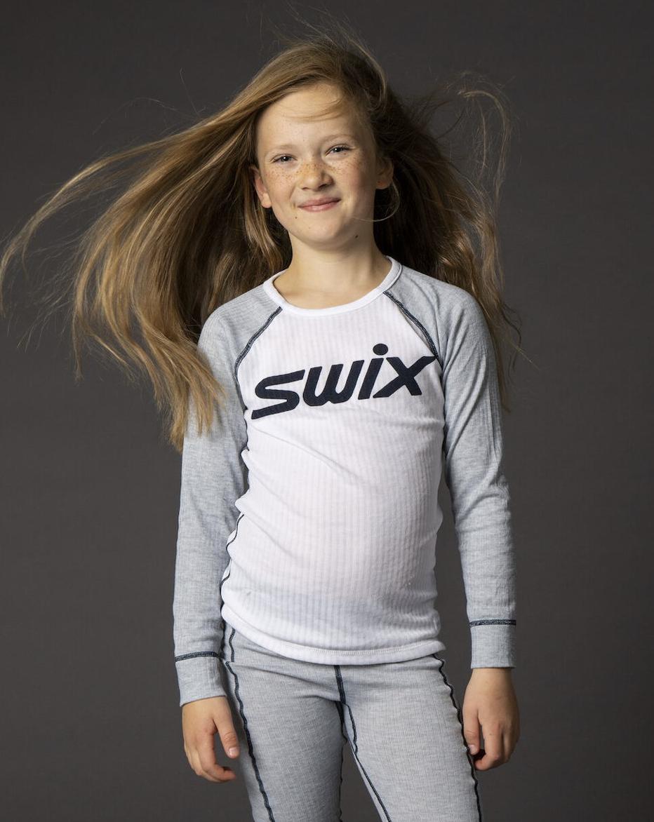 Bilde av Swix  RaceX bodyw LS JUNIOR 11200 Grey Melange