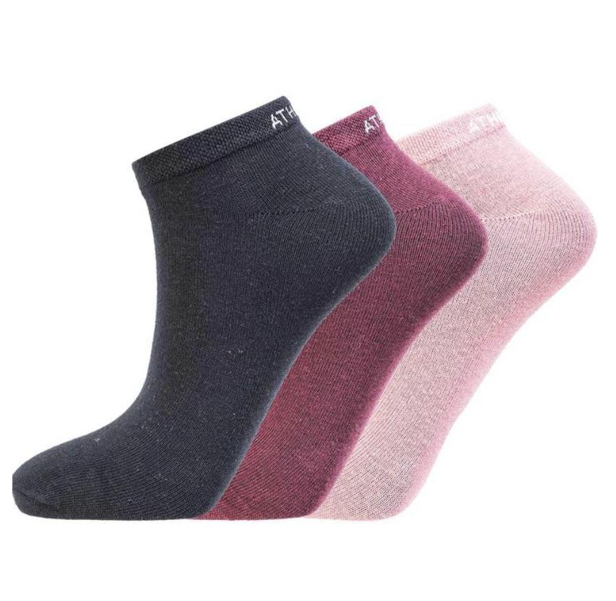 Bilde av Athlecia Bonie Low Cut Sock 3-pack -Tawny Port 4132 EA193772