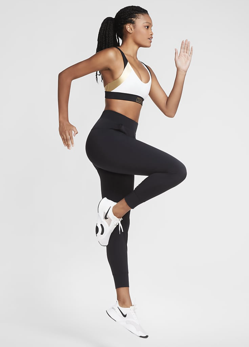 Bilde av Nike w indy metallic indy bra CT6710-100