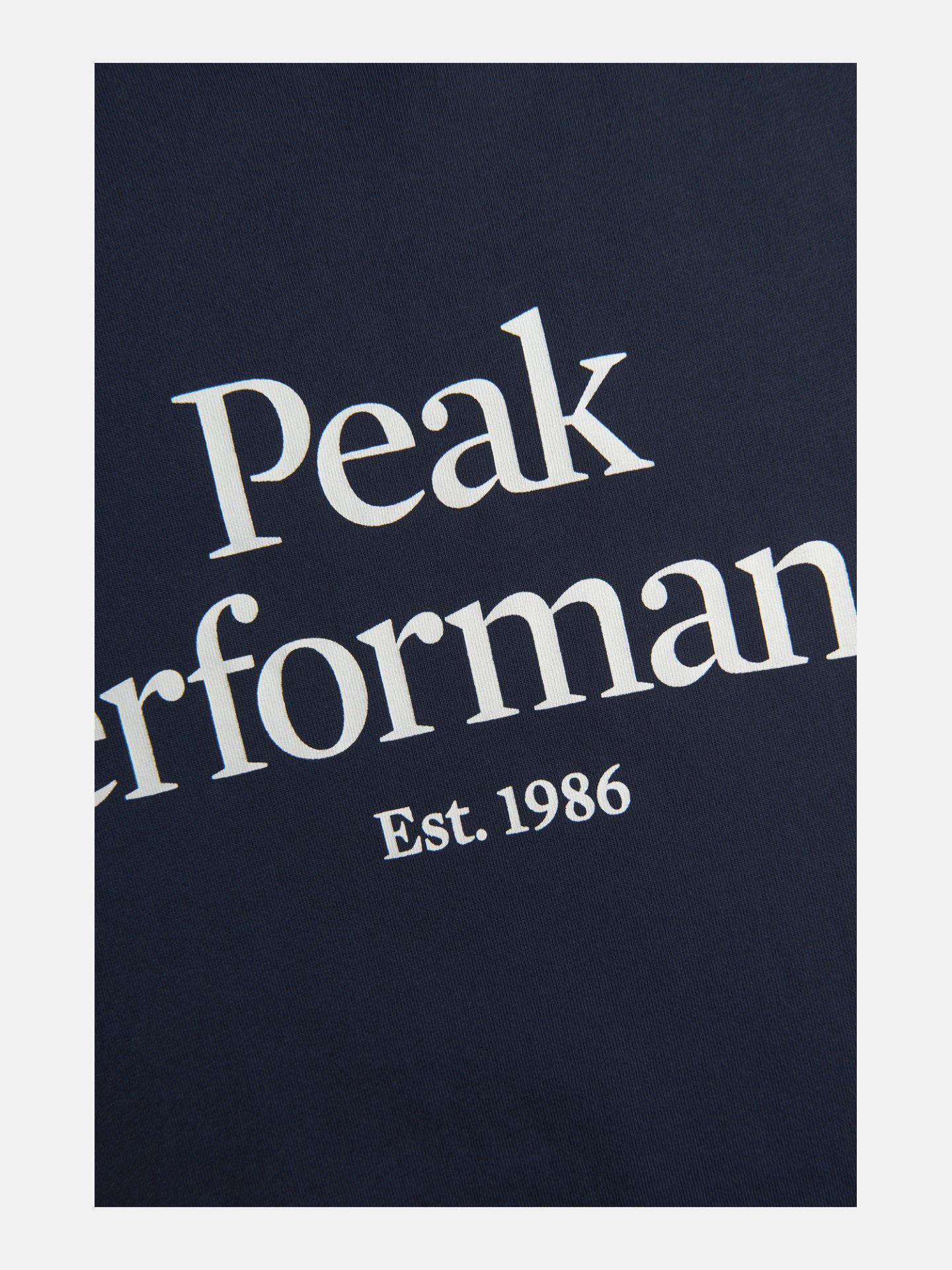 Bilde av Peak Performance  M Original Tee Blue Shadow