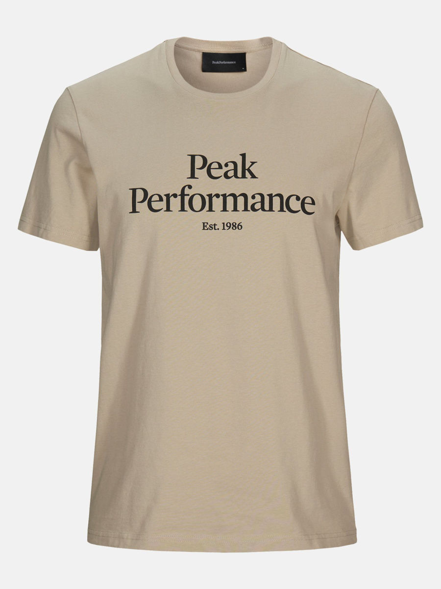 Bilde av Peak Performance  M Original Tee Celsian Beige