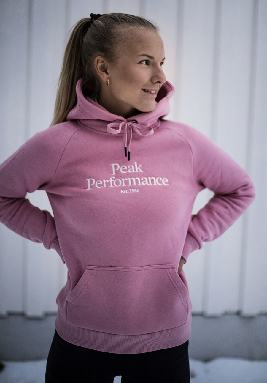 Bilde av Peak Performance  W Original Hood 030 Warm Blush