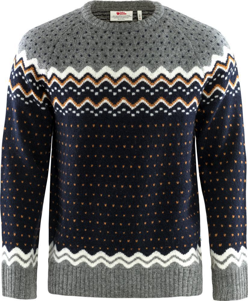 Bilde av Fjällräven  Övik Knit Sweater M 555 Dark Navy