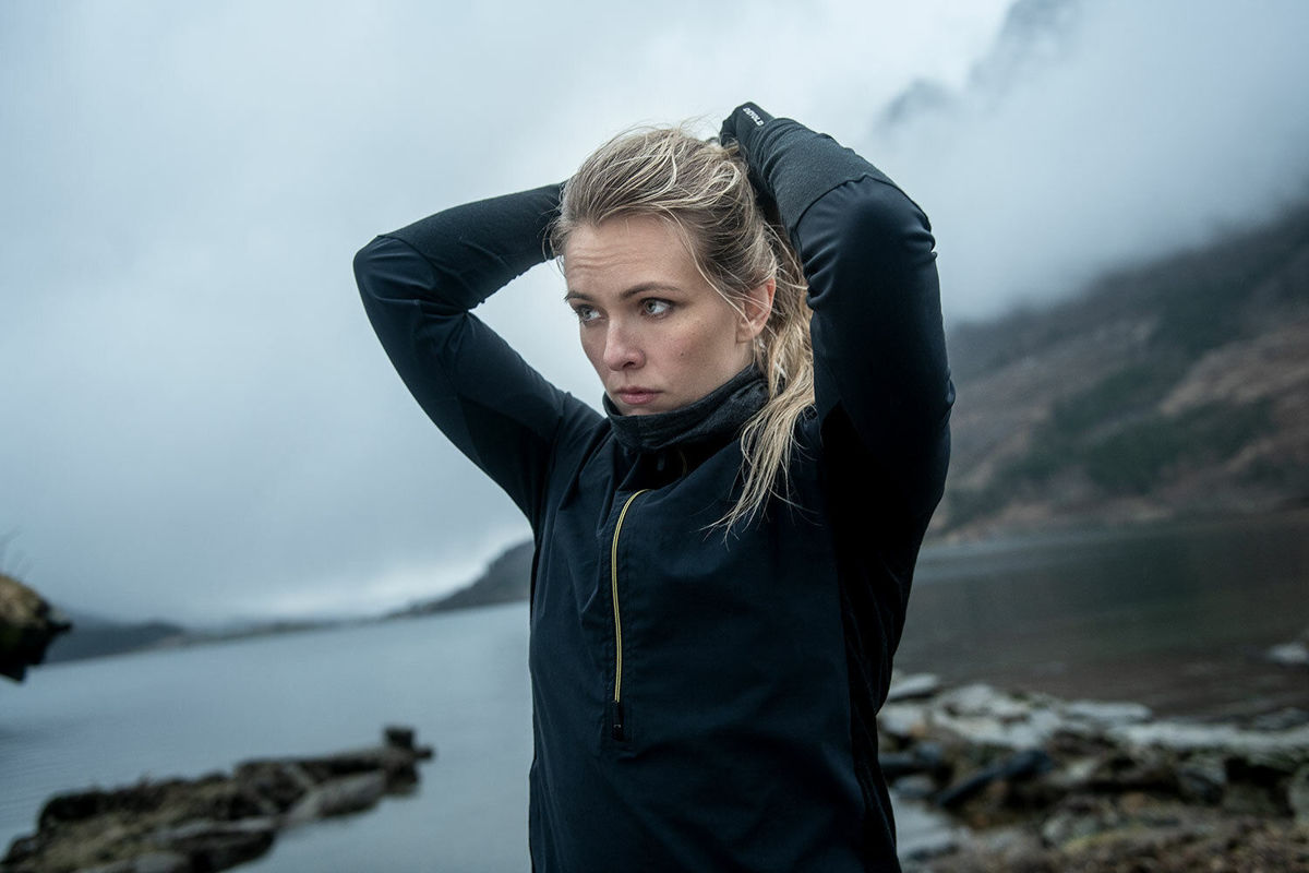 Bilde av Devold  Running Cover Woman Zip Neck 960A Caviar