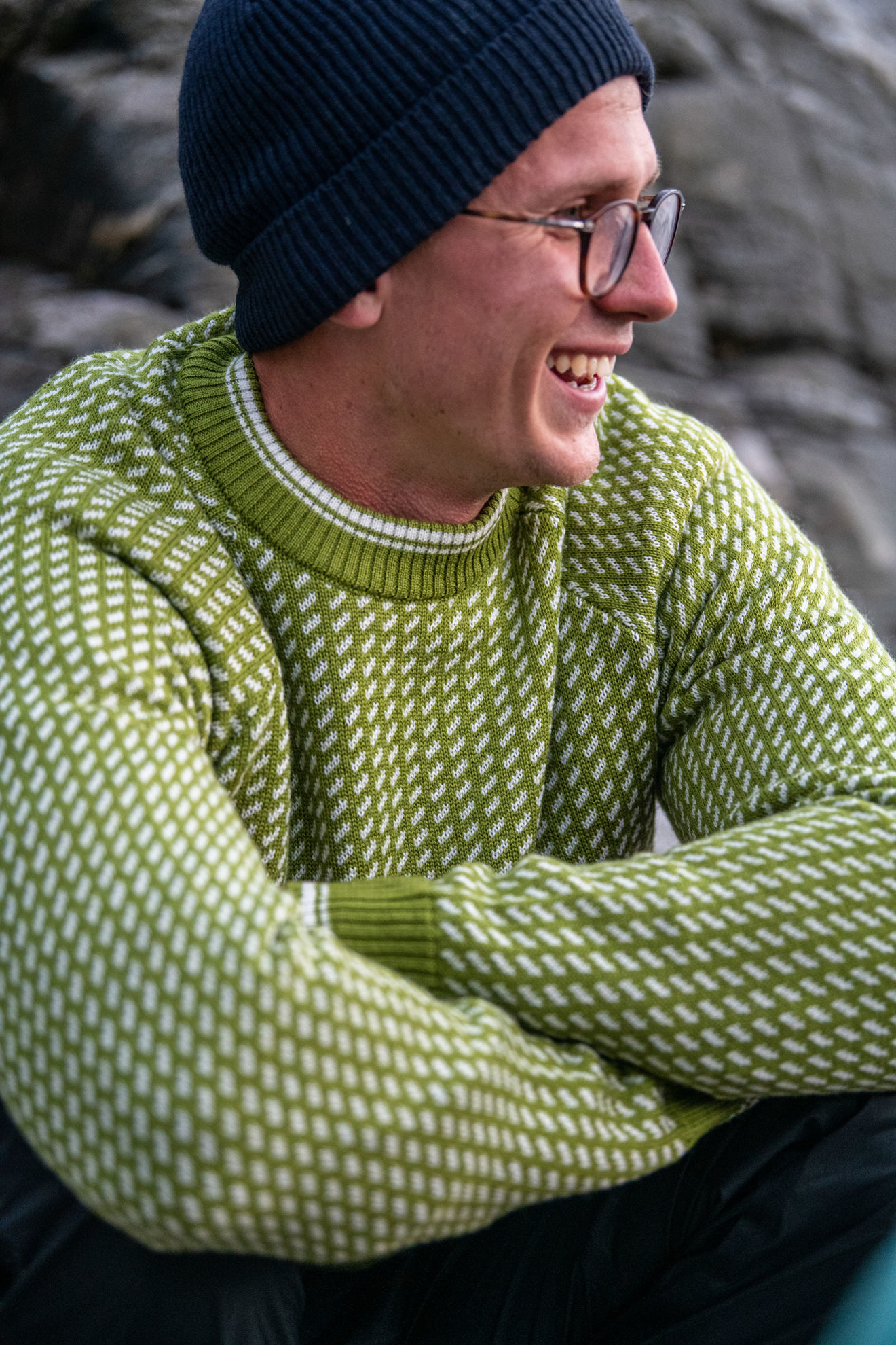 Bilde av Bergans  Alvdal Wool Jumper 14224 Dark Green Oasis