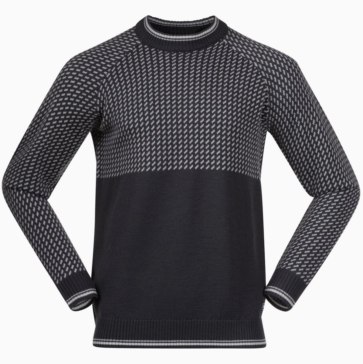 Bilde av Bergans  Alvdal Wool Jumper 14283 Solid Dark Grey/Vanilla White