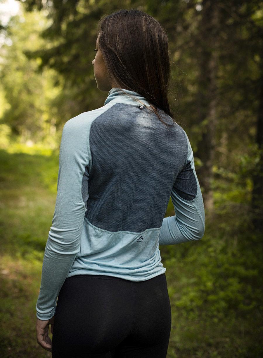 Bilde av Devold  Running Woman Zip Neck 317A Cameo