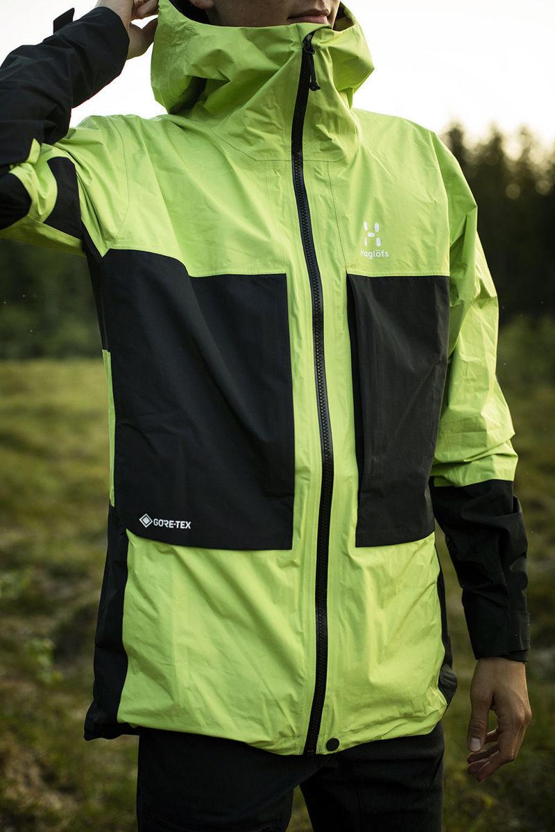 Bilde av Haglöfs  Roc Sheer Gtx Jacket Men 4HX Sprout Green/True Black