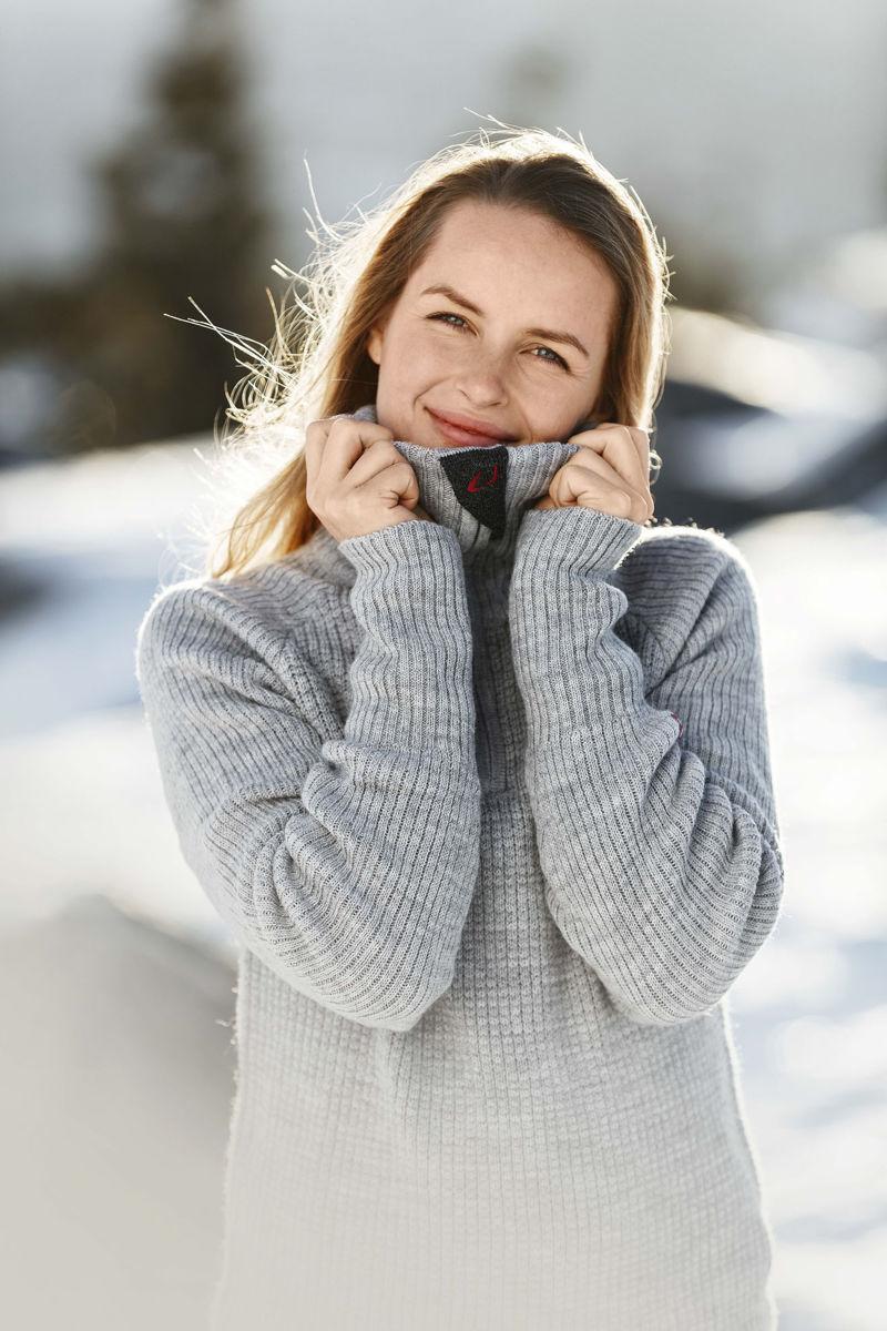 Bilde av Ulvang  Rav sweater w/zip 77005-00200 Grey Melange