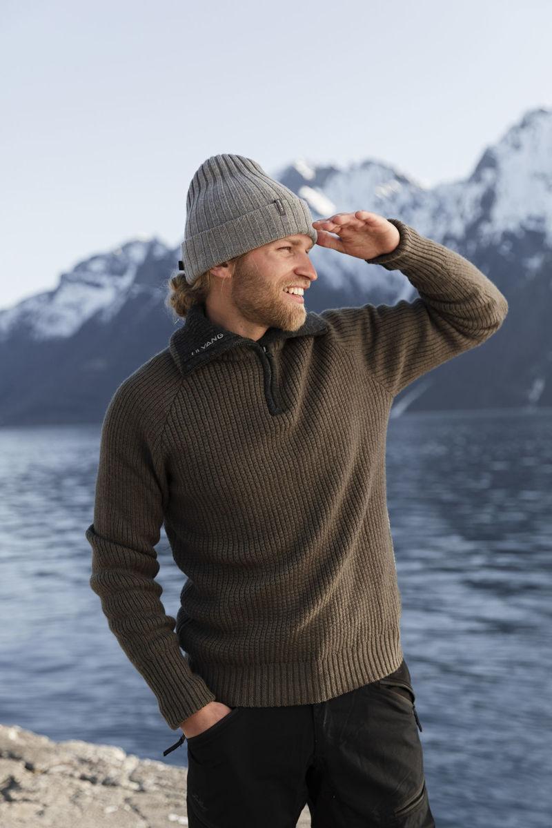 Bilde av Ulvang  Rav Sweater W/Zip 77005-20403 Tea Green/Charcoal Melange UNISEX