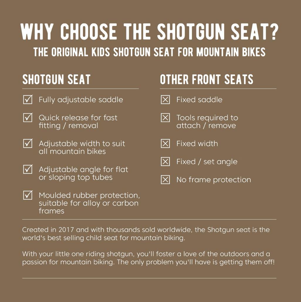 Bilde av Shotgun Kids Mountain Bike Seat Combo