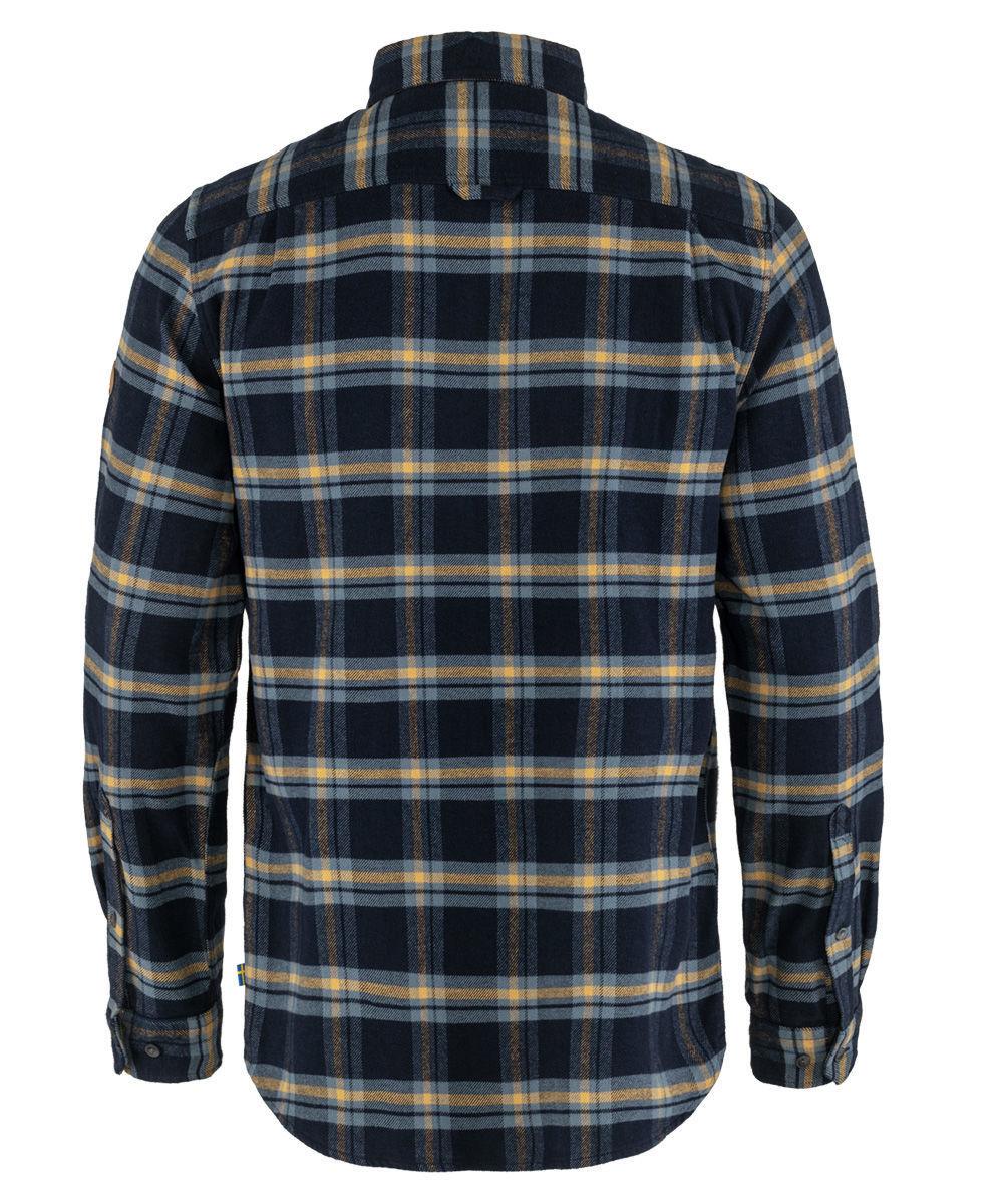 Bilde av Fjällräven  ÖVik Heavy Flannel Shirt M 555-232 Dark Navy-Buckwheat