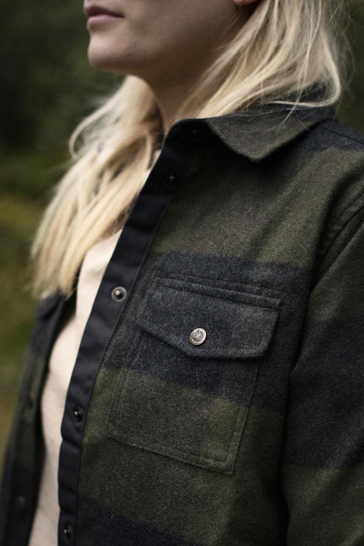 Bilde av Fjällräven  Canada Shirt W 662-030 Deep Forest-Dark Grey