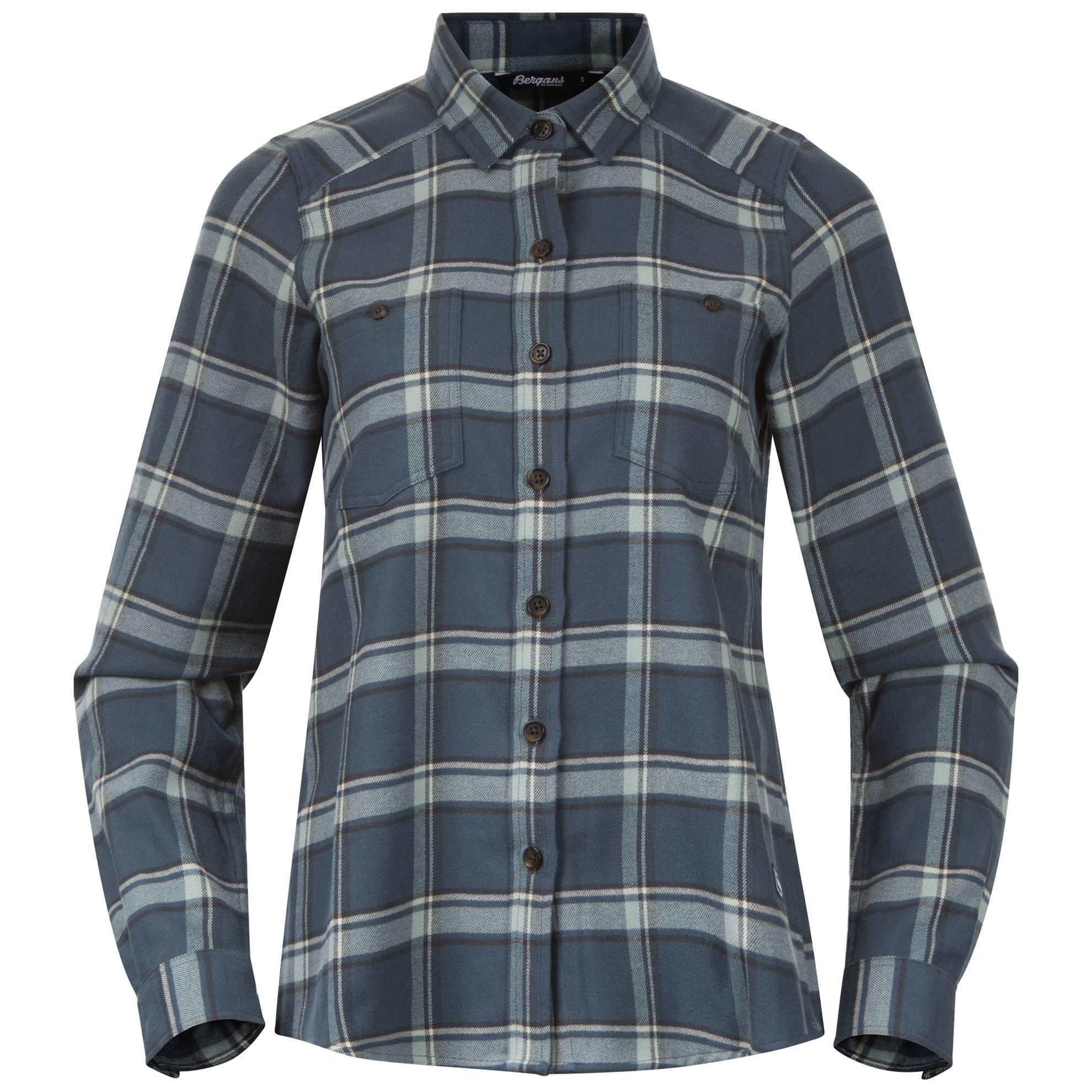 Bilde av Bergans  Tovdal W Shirt 21509 Orion Blue/Misty Forest