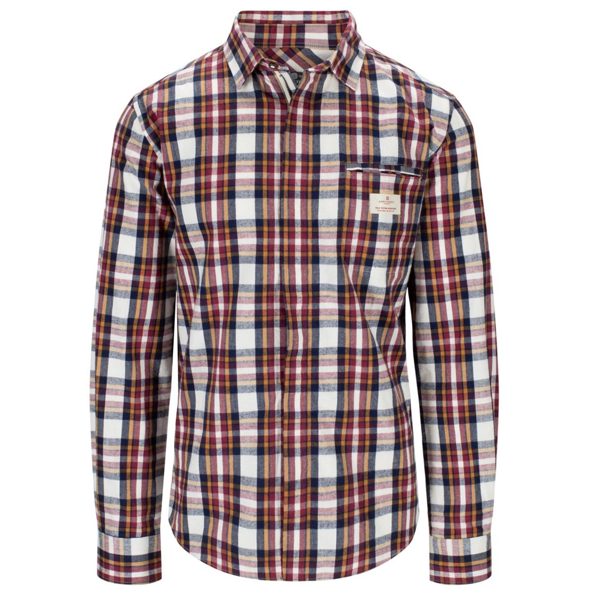 Bilde av AMUNDSEN Skauen Field Shirt Mens 001 Chrquered White