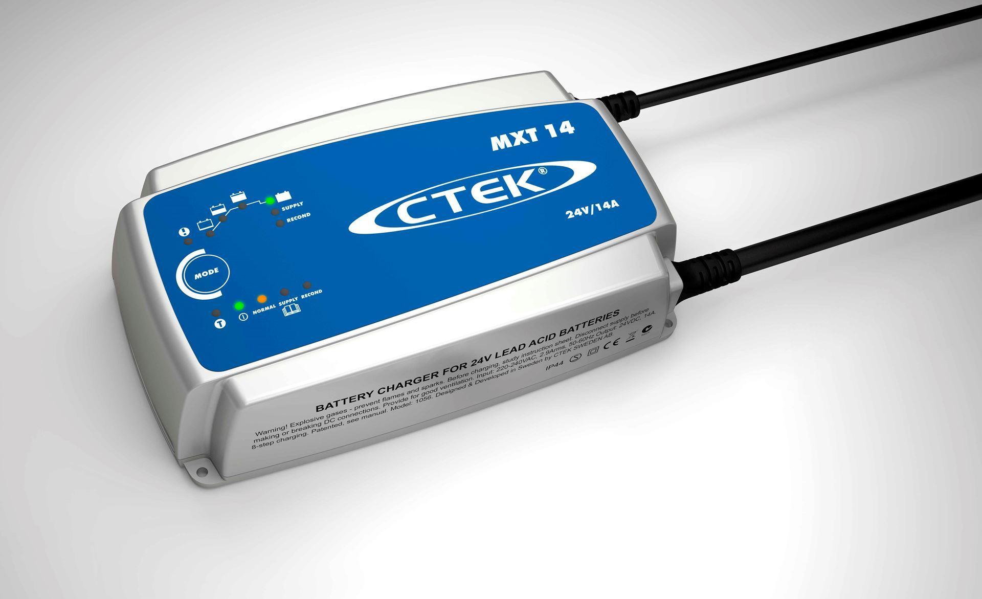 CTEK smart batteriladere fra Nordic Lift