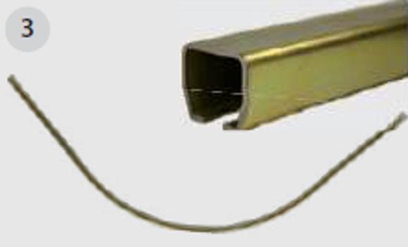 Nordic Lift C skinne Un rails - radius 500mm - galvanisert