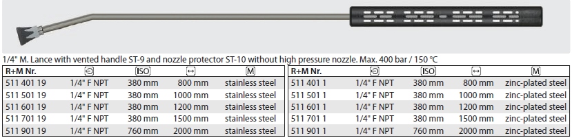 Nordic Lift Lanze+Halbs. 800 + Muffe 1/4 15°