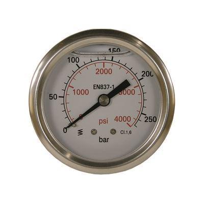 Nordic Lift Manometer 0-400 HI 50 mm 1/4AG