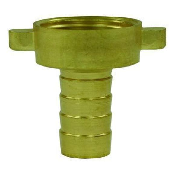 Nordic Lift slangestuss  2/3 13mm -3/4 messing