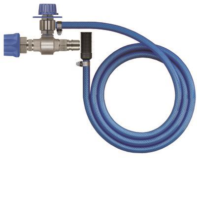 Nordic Lift ST160 kjemiinjek. rustfri-2,1mm- justerbar. inkl. 2mtr slang