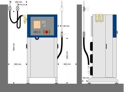 Høytrykksmaskin, stasjonær, kaldtvann. Multisystem.
