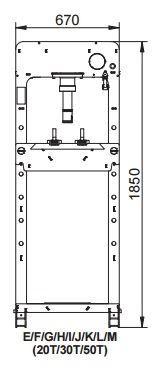 Verkstedpresse nordic lift 30t