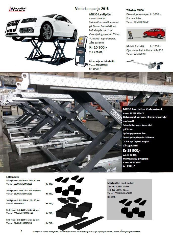 Nordic Lift kampanjeblad 2019
