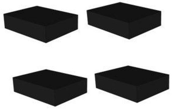 Solide gummi pader.  Standard på våre sakseløftere 150 x 100 x 80 mm 4stk