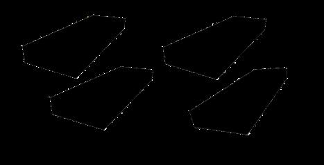 Gummipad Kit for sakseløfter 300  X 100 X 30 MM .4stk