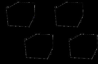 Gummipad Kit for sakseløfter 150  X 100 X 80 MM .4stk