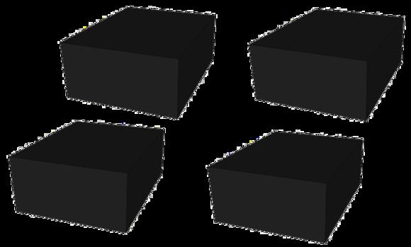 Gummipad Myk Kit for sakseløfter 250 x 200 x 100 mm 4stk