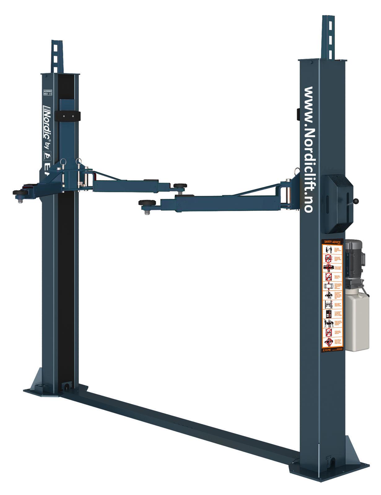 F10M 2-søylet løftebukk 4,2 tonn m/bunnramme 1-fas