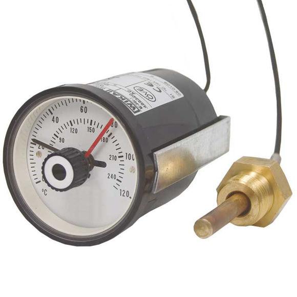 """TERMOMETER 0-120 ° C 1/2 """"M"""
