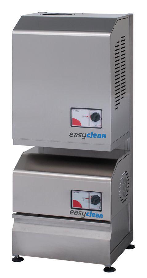 Easy-clean rustfri stativ-Rack for 3 maskiner eller maskin+hotbox+dieseltank