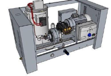 Easyclean WSF-230V hetvann-stasjonær -200bar/21ltr