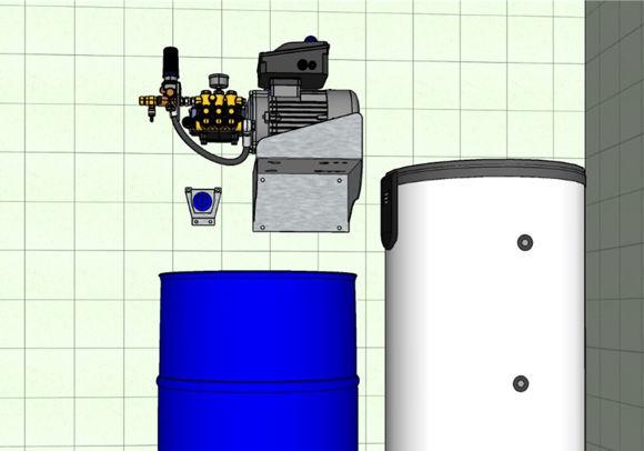 EasyClean MotorPumpe + 300ltr 15Kw varmtvannsbereder.