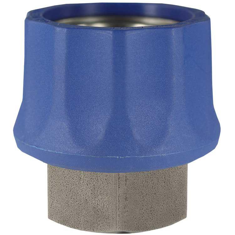 "hurtigkupl.m/blå plastbeskyttelse-3/8"" -rustfri- TEMA"