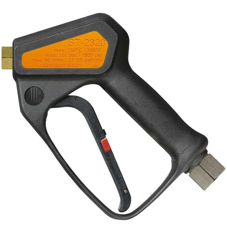 høytrykkspistol-highflow 150bar/80ltr.min uten svivel-oransj