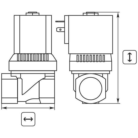 """Magnet Ventil E 6213 0-10B 1"""" 24V50HZ"""