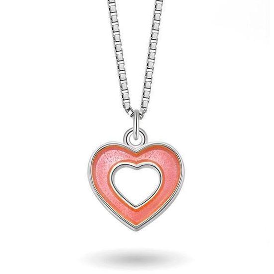 Smykke Rosa hjerte i sølv, til barn