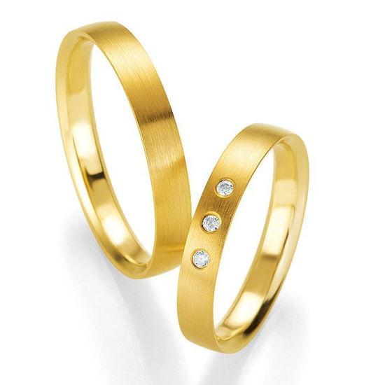 Gifteringer i gult gull 14 kt, 3.5 mm. PROFIL LIGHT - 4804416