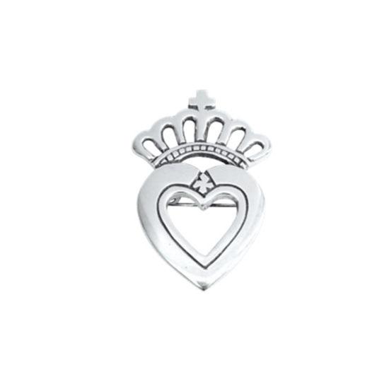 Brosje Prinsesse kvit, liten - 569143