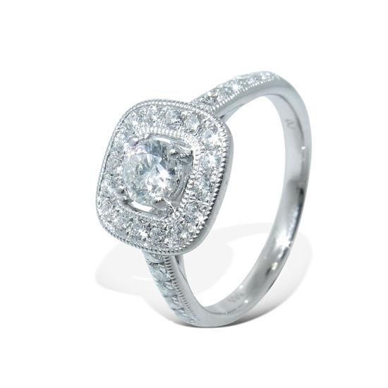 Diamantring i hvitt gull med 0,69 ct W-Si -1382668