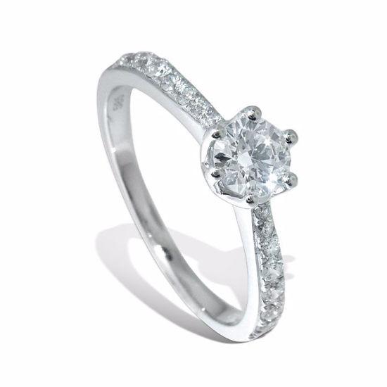 Diamantring i hvitt gull med 0,51 ct W-Si -1382657