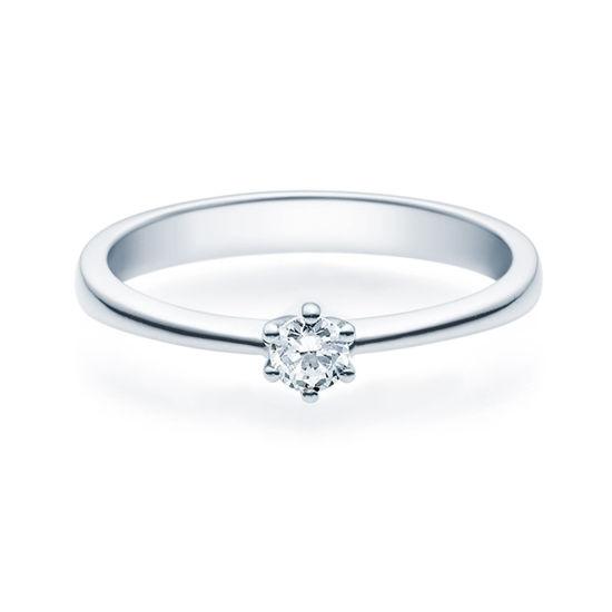 Enstens diamantring Diona 14 kt hvitt gull med 0,16 ct TW-Si.Magic Moments -18001016
