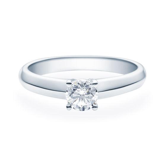 Enstens diamantring Elissa med 0,50 ct TW-Si i platina -18004050pt